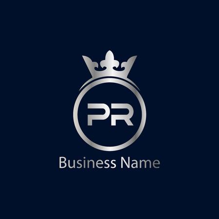 Initial Letter PR Logo Template Design