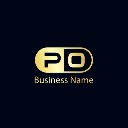 Initial Letter PO Logo Template Design