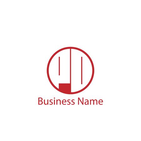 Initial Letter PO Logo Template Design Banco de Imagens - 109606625