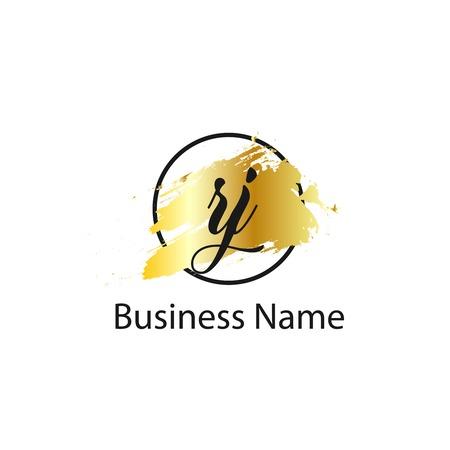 Initial Letter RJ Logo Template Design