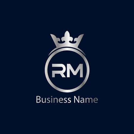 Initial Letter RM Logo Template Design