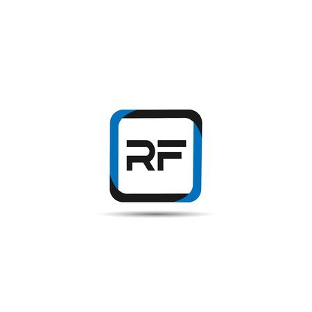 Initial Letter RF Logo Template Design Stock Vector - 109630107