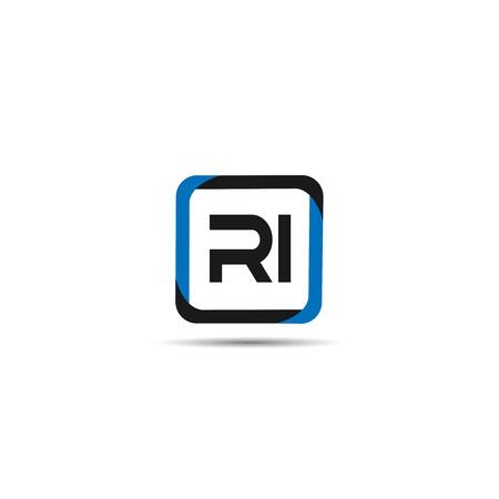 Initial Letter RI Logo Template Design Stock fotó - 109630106