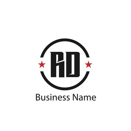 Initial Letter RD Logo Template Design Logó