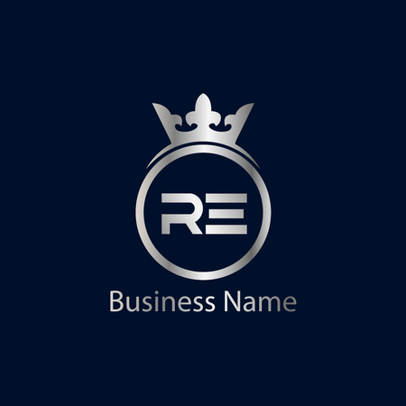 Initial Letter RE Logo Template Design