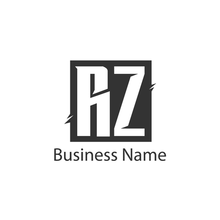 Initial Letter RZ Logo Template Design