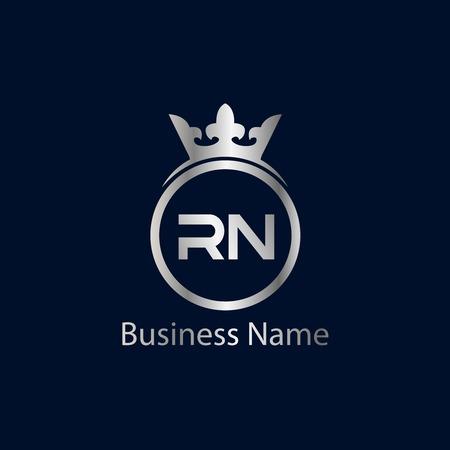 Initial Letter RN Logo Template Design Stock Vector - 110259963