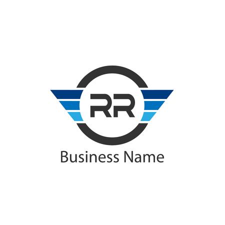 Initial Letter RR Logo Template Design
