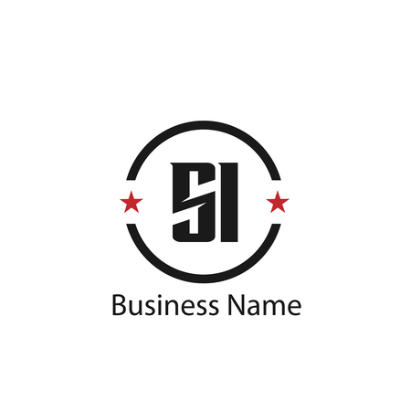 Initial Letter SI Logo Template Design