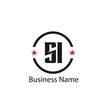 Lettera iniziale SI Logo Template Design