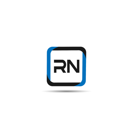 Initial Letter RN Logo Template Design