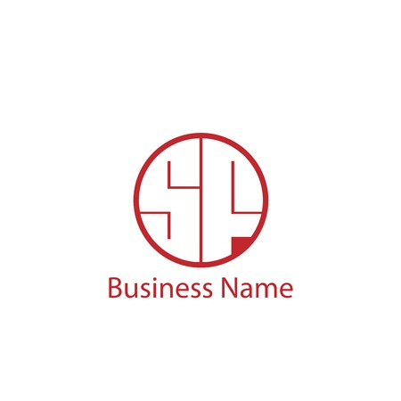 Initial Letter SF Logo Template Design