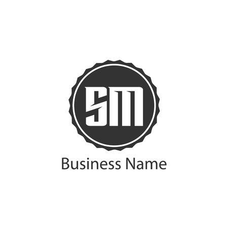 Initial Letter SM Logo Template Design
