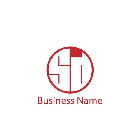 Initial Letter SD Logo Template Design