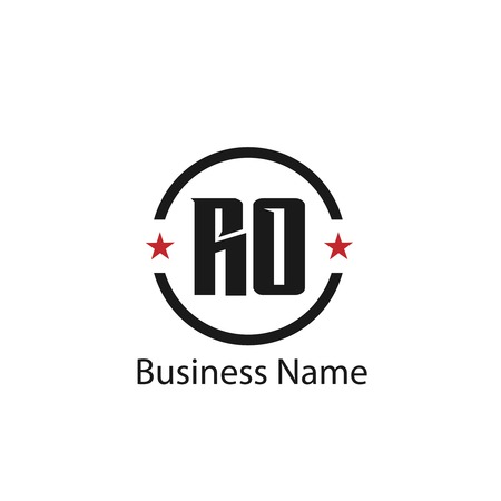 Initial Letter RO Logo Template Design