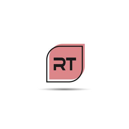 Initial Letter RT Logo Template Design