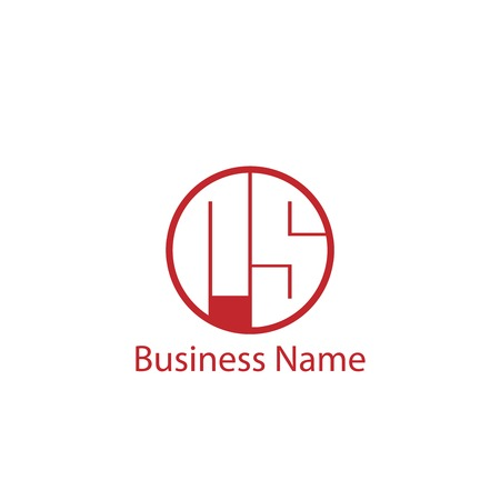 Initial Letter RS Logo Template Design Illustration