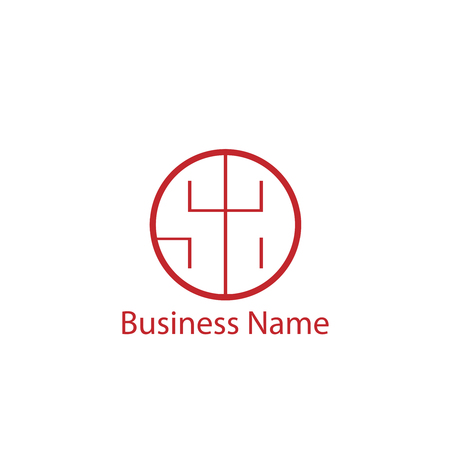 Initial Letter SA Logo Template Design Illustration