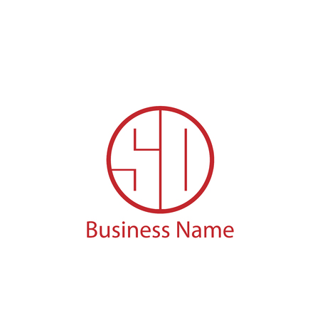 Initial Letter SO Logo Template Design