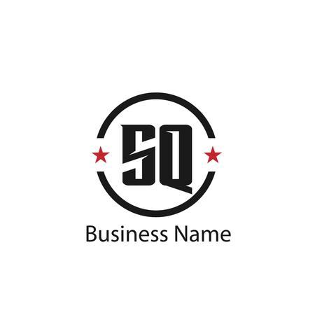 Initial Letter SQ Logo Template Design Logó