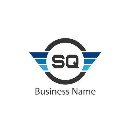 Initial Letter SQ Logo Template Design