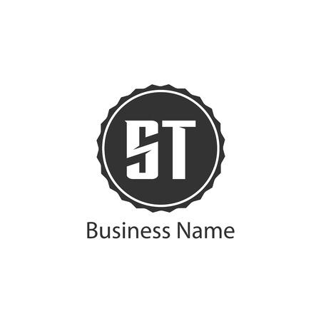 Initial Letter ST Logo Template Design Logó
