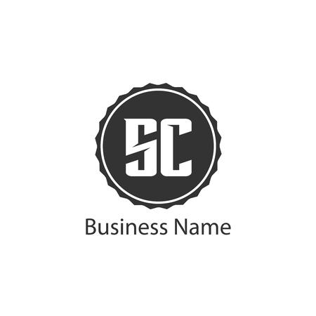 Initial Letter SC Logo Template Design Ilustração
