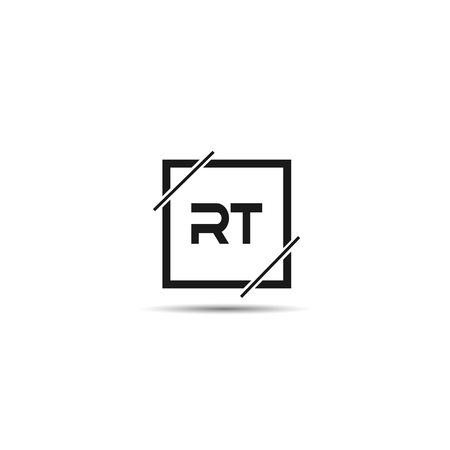 Initial Letter RT Logo Template Design