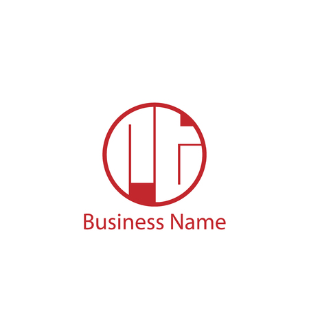 Initial Letter RT Logo Template Design Logó