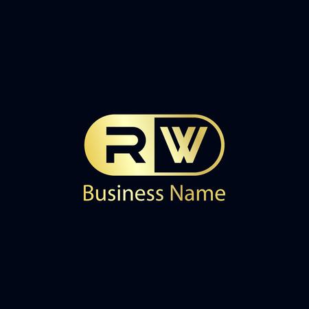 Initial Letter RW Logo Template Design Illusztráció