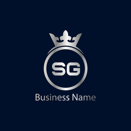 Initial Letter SG Logo Template Design Illustration