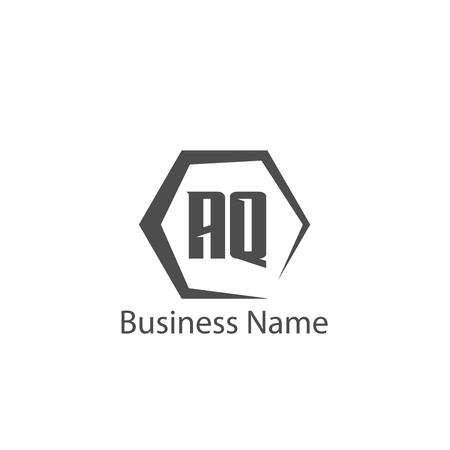 Initial Letter AQ Logo Template Design
