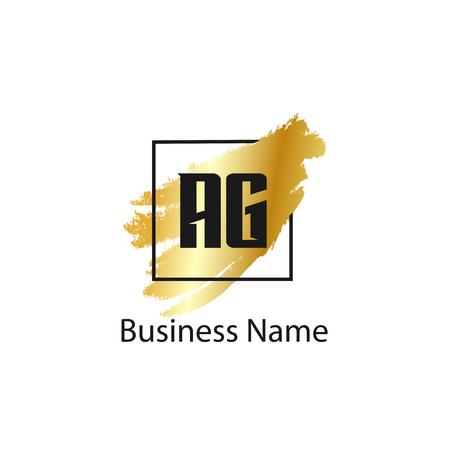 Początkowa litera AG Logo szablon projektu Logo