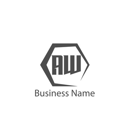 Initial Letter AW Logo Template Design
