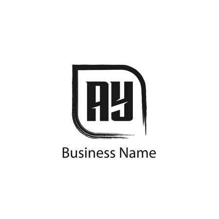 Initial Letter AY Logo Template Design