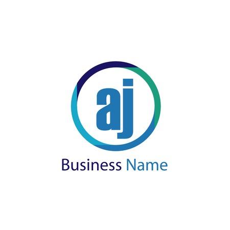 Initial Letter AJ Logo Template Design Illustration