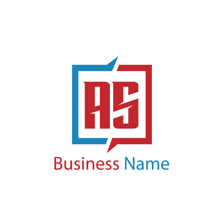 Initial Letter AS Logo Template Design