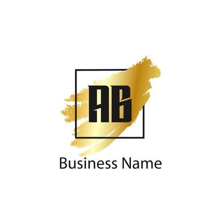 Initial Letter AB Logo Template Design