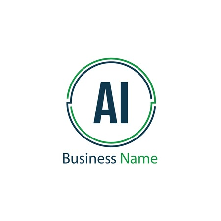 Initial Letter AI Logo Template Design