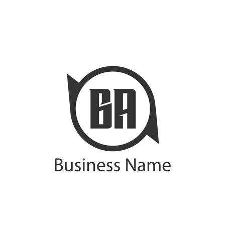 Initial Letter BA Logo Template Design