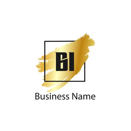 Initial Letter BI Logo Template Design