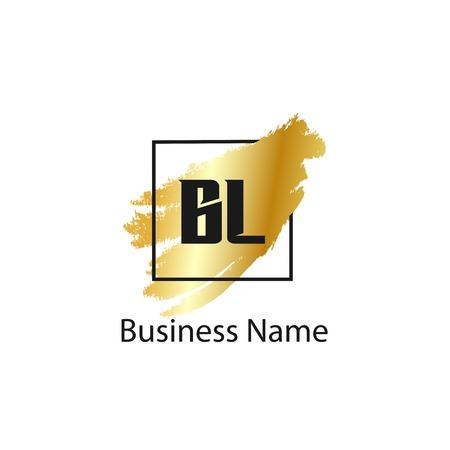 Initial Letter BL Logo Template Design Imagens - 110733671