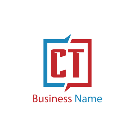 Initial Letter CT Logo Template Design