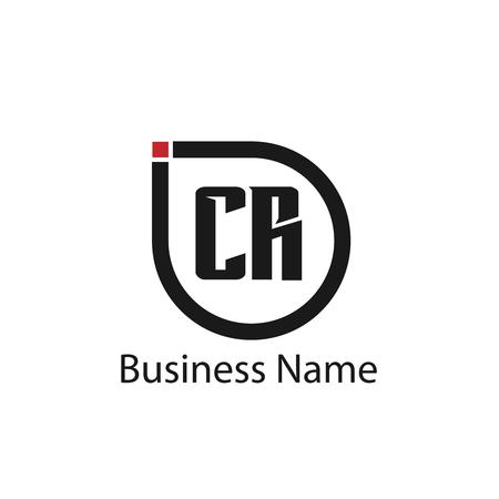 Initial Letter CR Logo Template Design