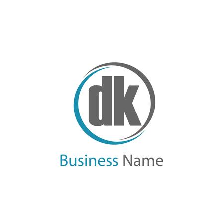 Initial Letter DK Logo Template Design