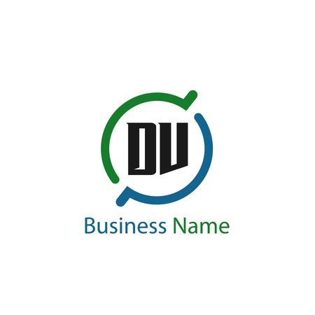 Initial Letter DV Logo Template Design Logó