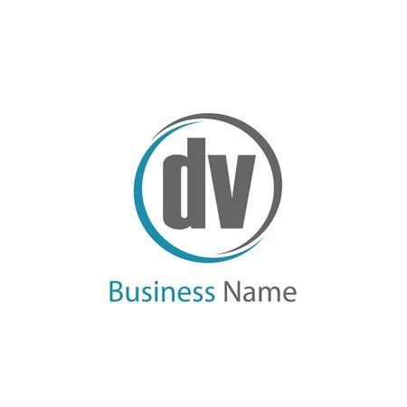 Initial Letter DV Logo Template Design