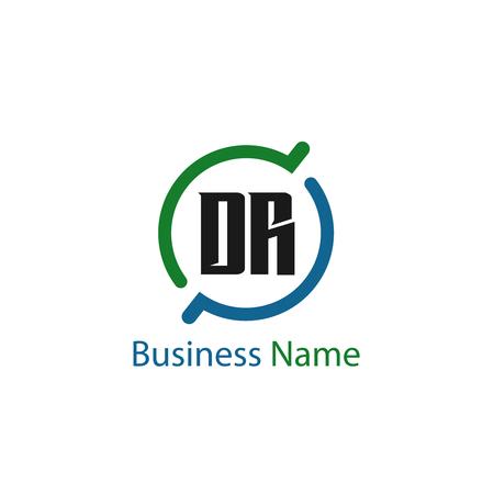 Initial Letter DR Logo Template Design
