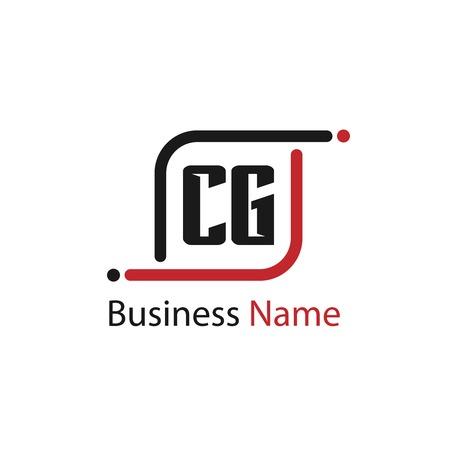 Initial Letter CG Logo Template Design