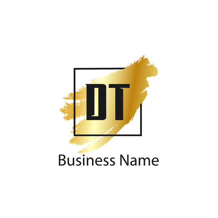 Initial Letter DT Logo Template Design
